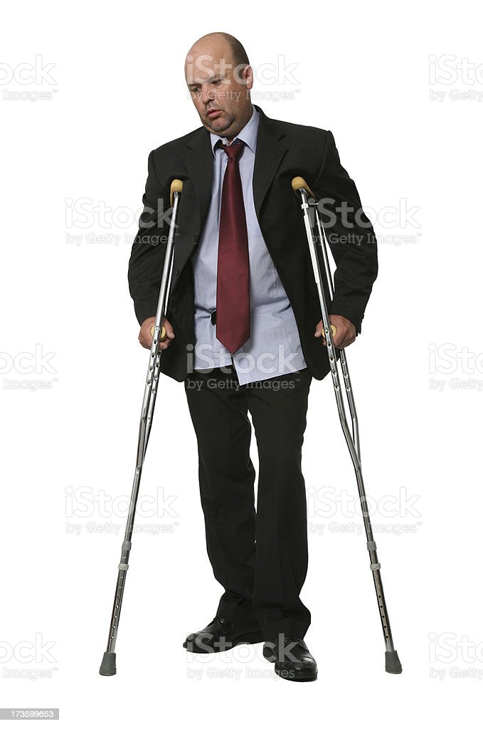 Disabled Business royalty-free stock photo