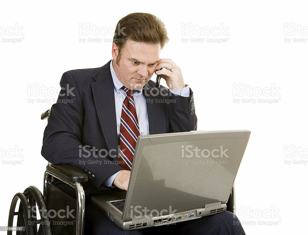 Disabled Businessman Connected royalty-free stock photo