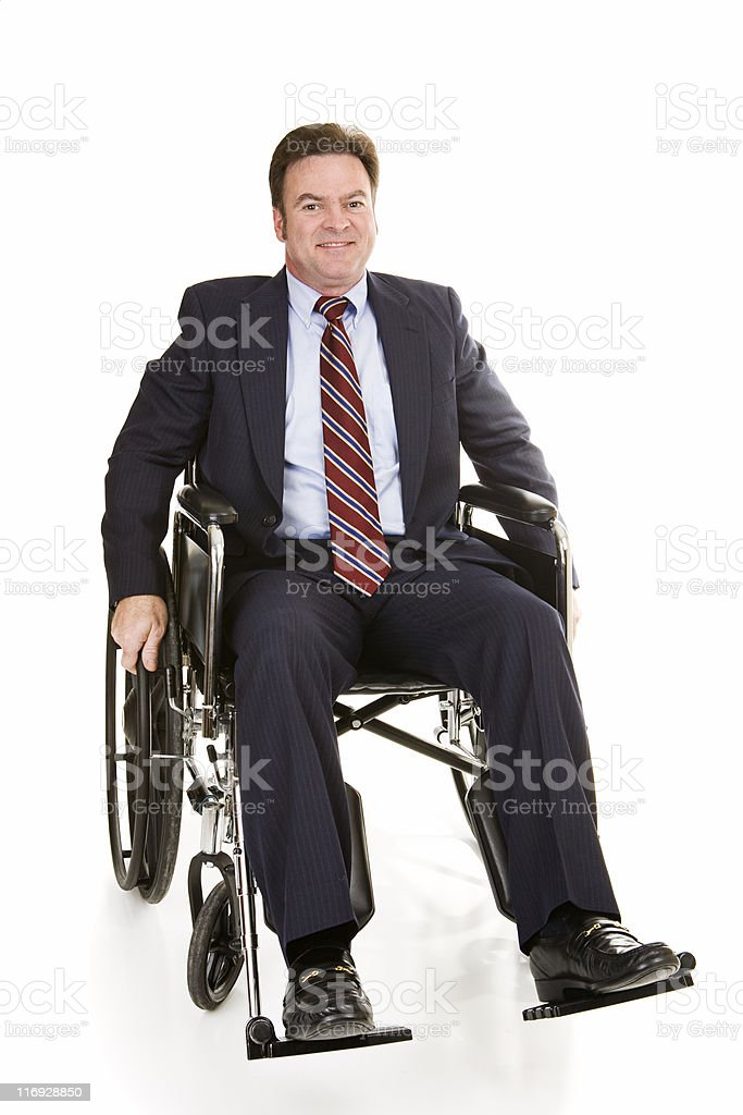 Disabled Businessman Isolated royalty-free stock photo