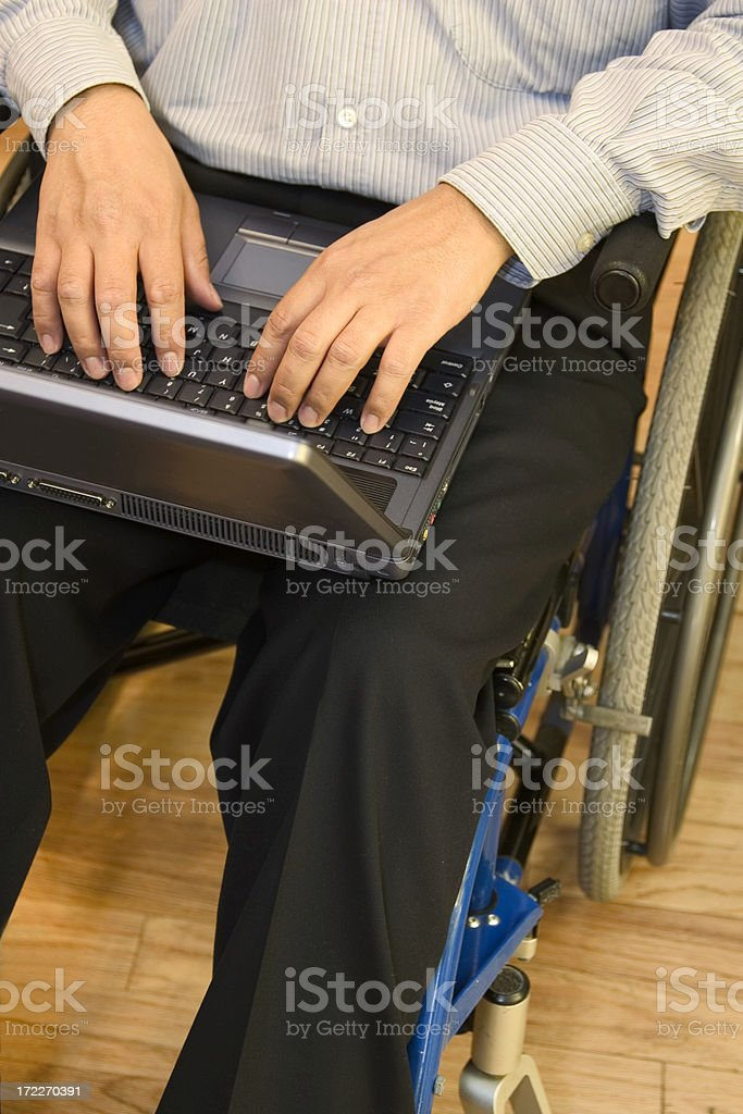 disabled businessman royalty-free stock photo