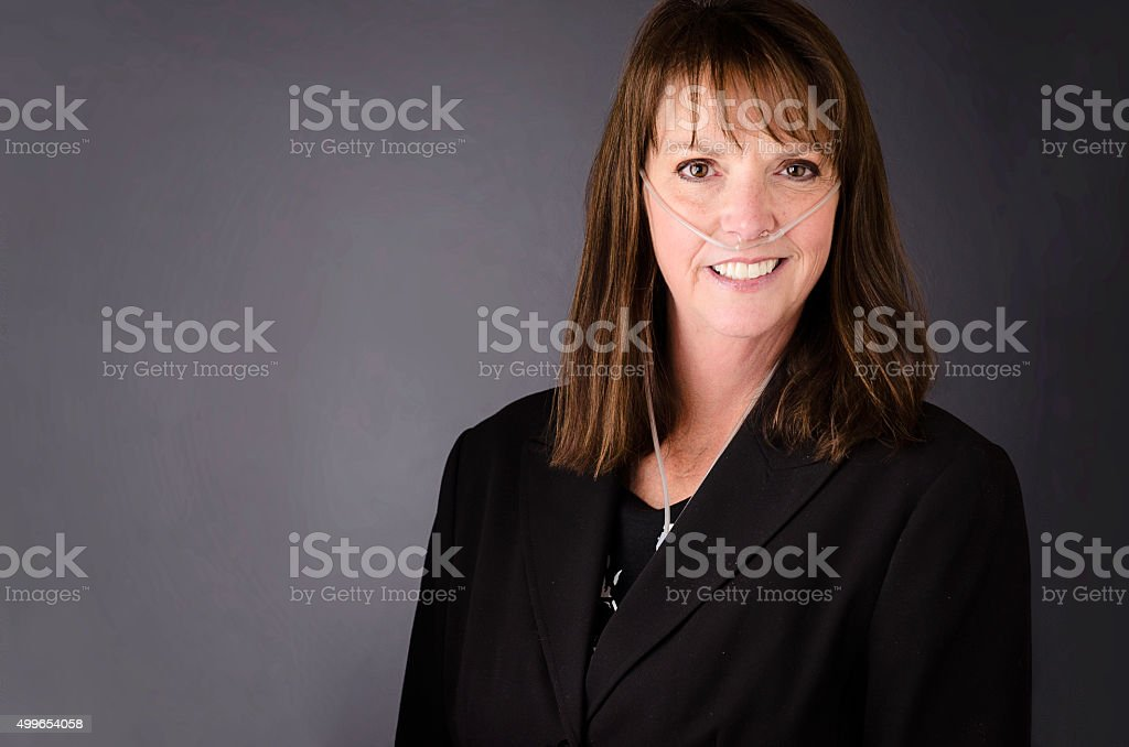 Disabled Businesswoman stock photo