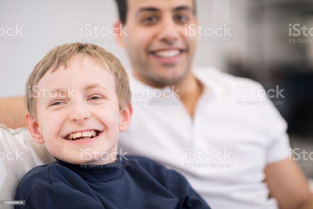 Disabled Child at the Hospital stock photo