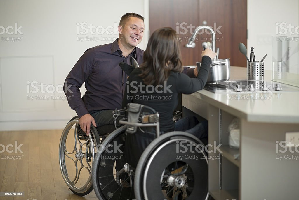 Disabled Couple royalty-free stock photo