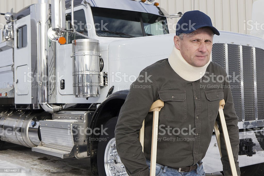 Disabled Driver royalty-free stock photo