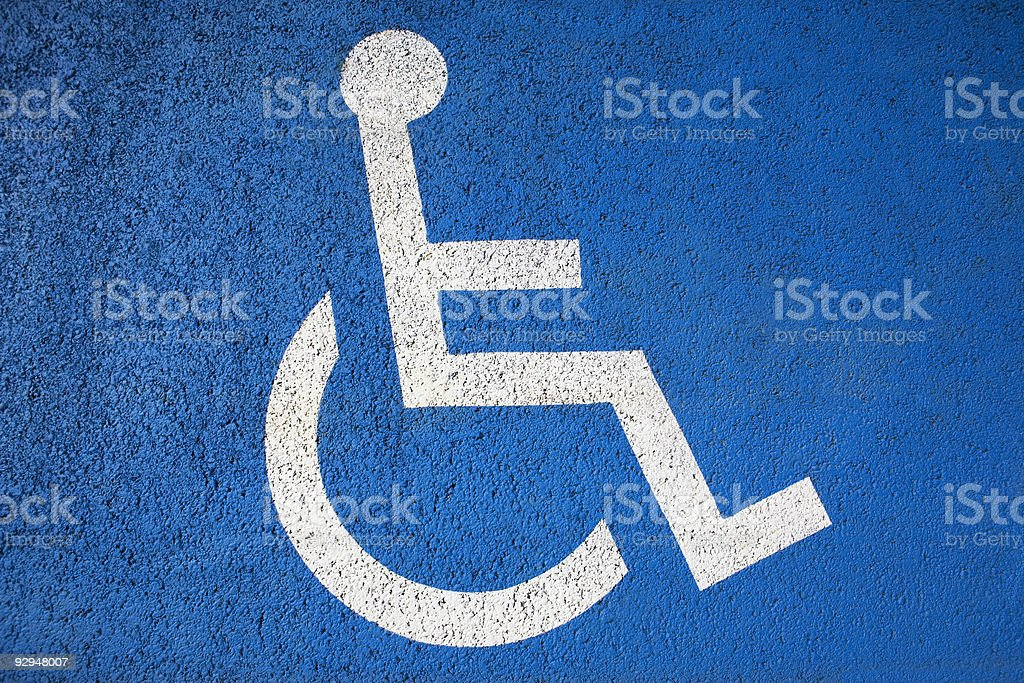 Disabled drivers symbol stock photo