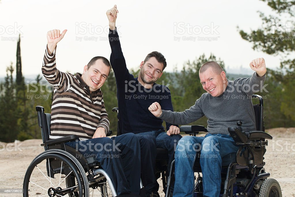 Disabled friends stock photo