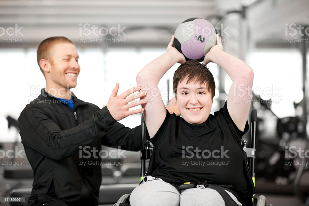 Disabled Girl royalty-free stock photo