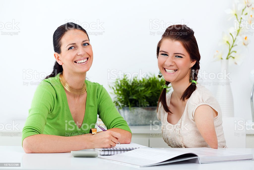 Disabled Girl With Her Health Advisor royalty-free stock photo