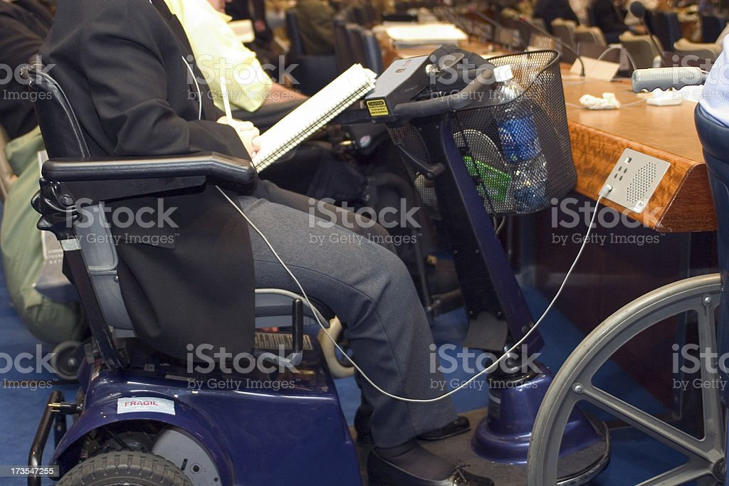 disabled in conference stock photo