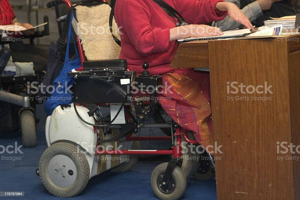 disabled in conference royalty-free stock photo