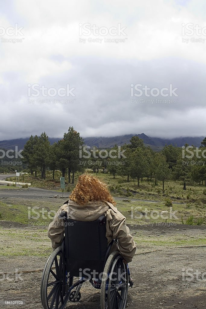 disabled in nature royalty-free stock photo