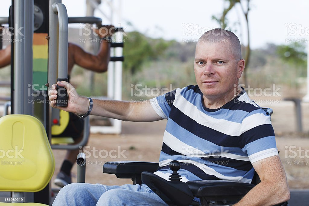 Disabled Male royalty-free stock photo