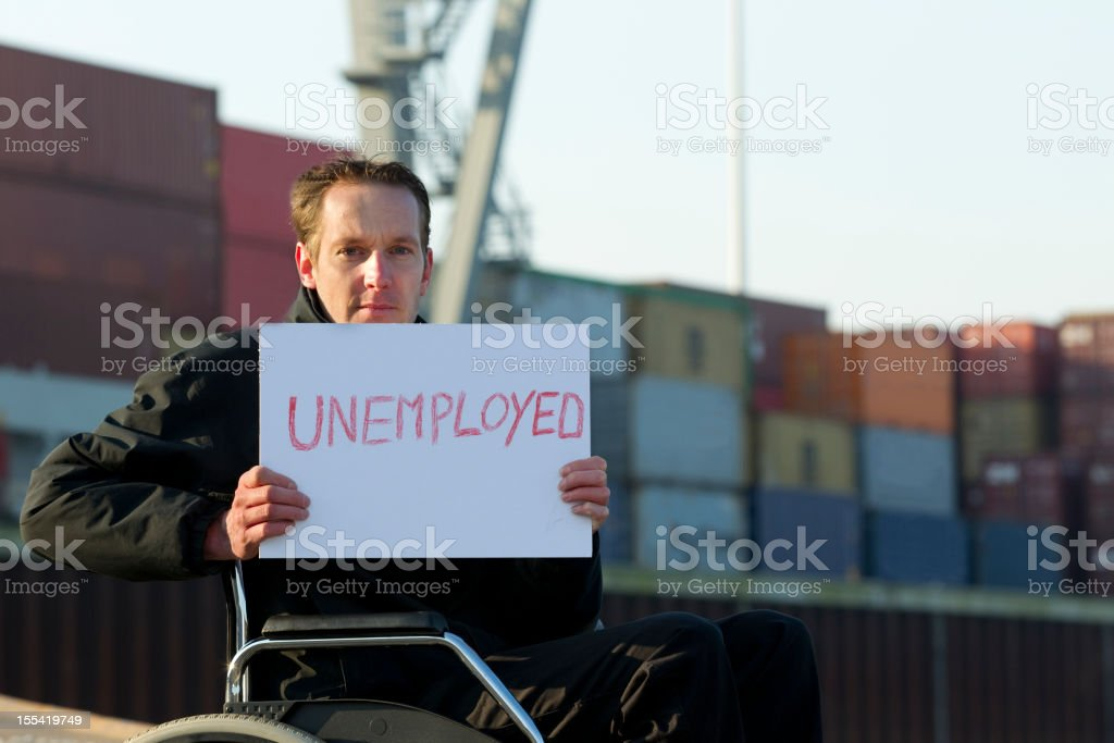 Disabled Man In Need Of a Job stock photo