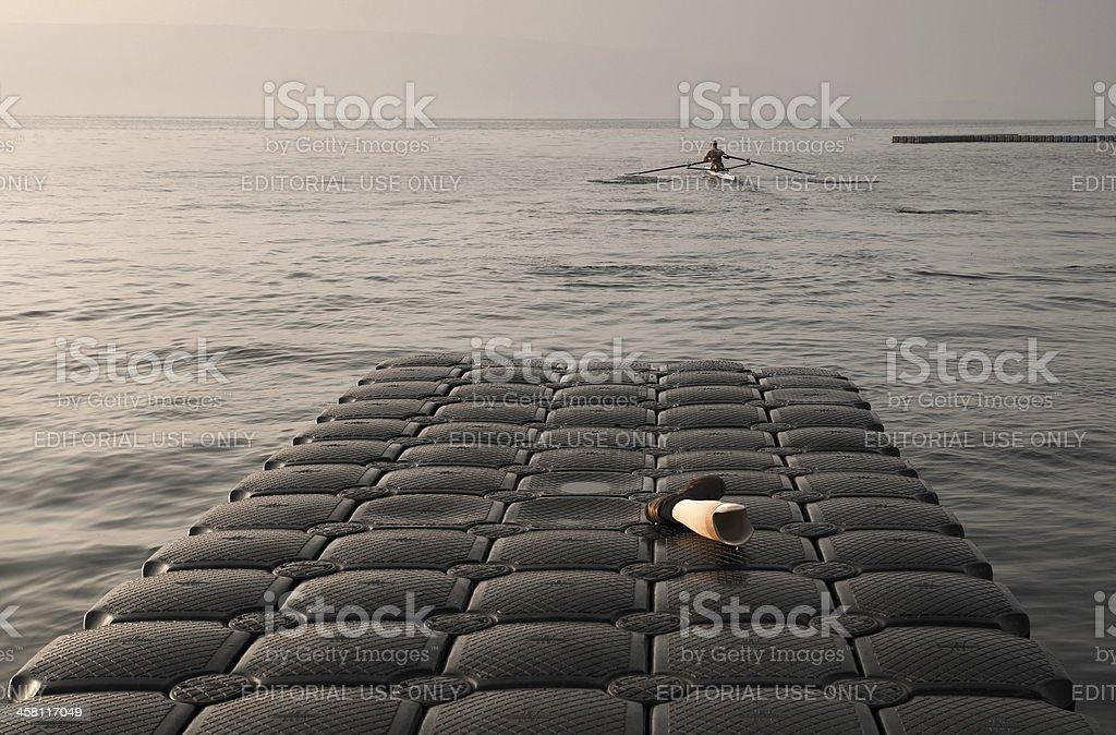 Disabled Man on Kayak royalty-free stock photo