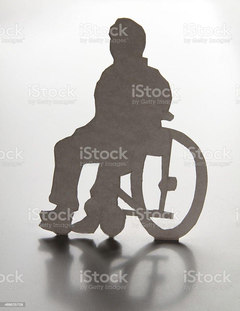 Disabled man royalty-free stock photo
