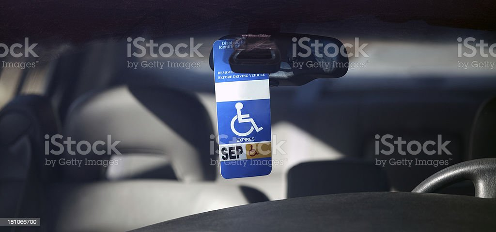 Disabled Parking Permit stock photo