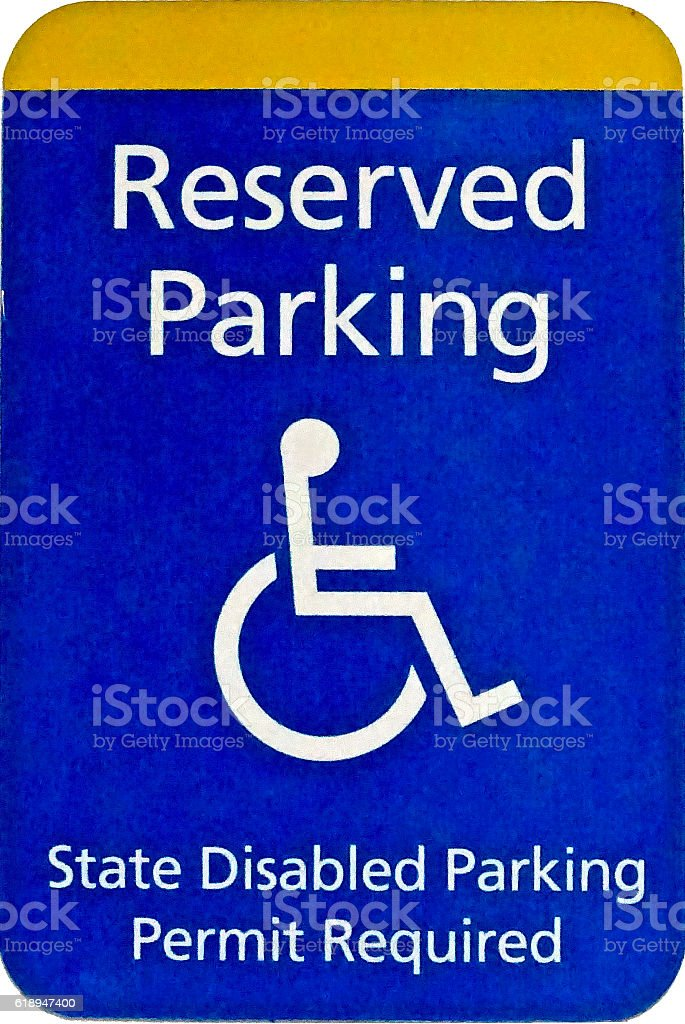 Disabled Parking Reserved sign stock photo