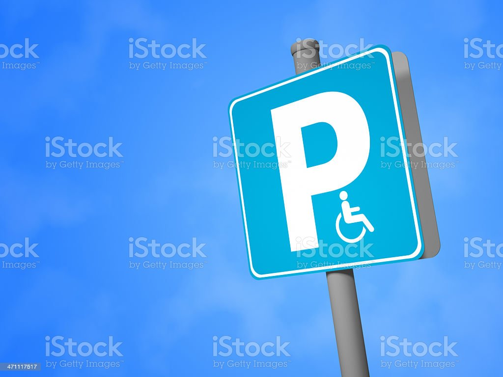 Disabled Parking Sign royalty-free stock photo