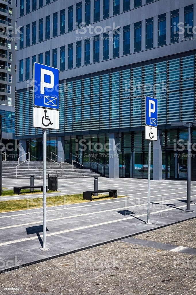 Disabled Parking Signs stock photo