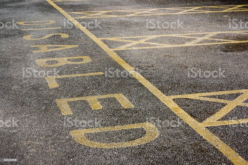 Disabled Parking Spaces royalty-free stock photo