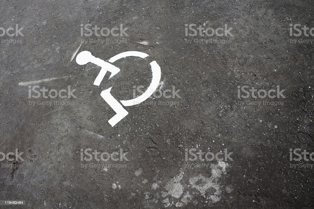 Disabled person sign royalty-free stock photo
