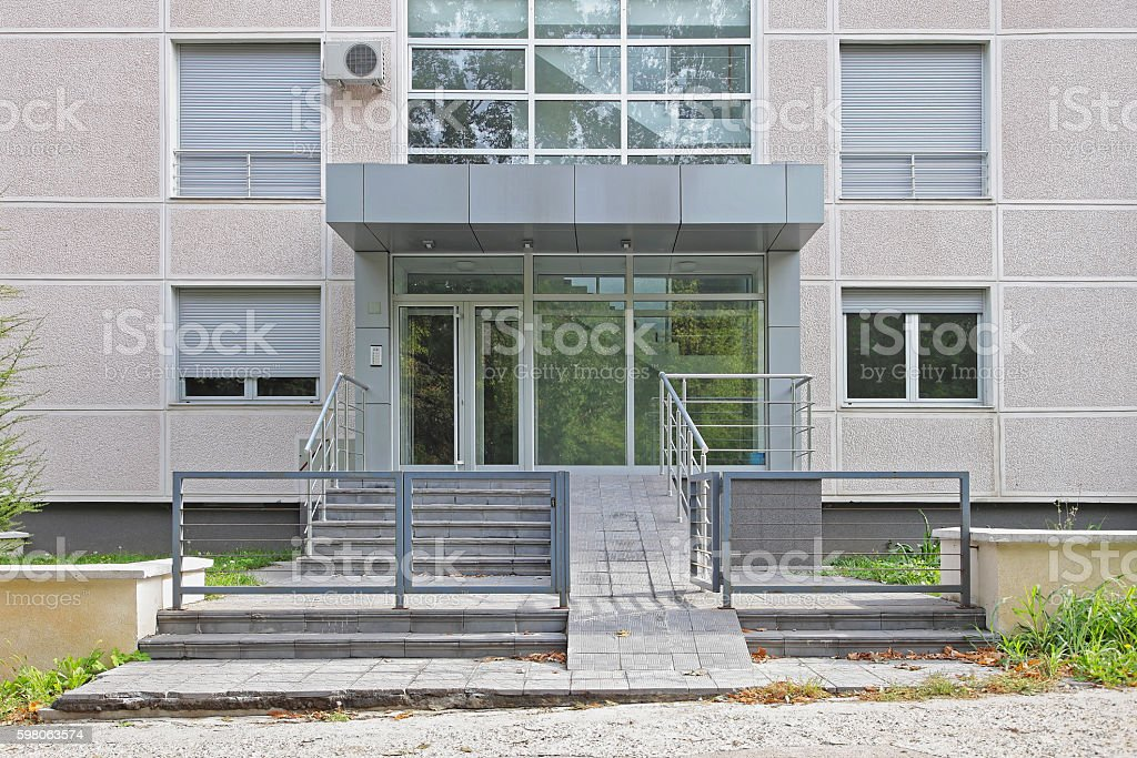 Disabled Ramp Entrance stock photo