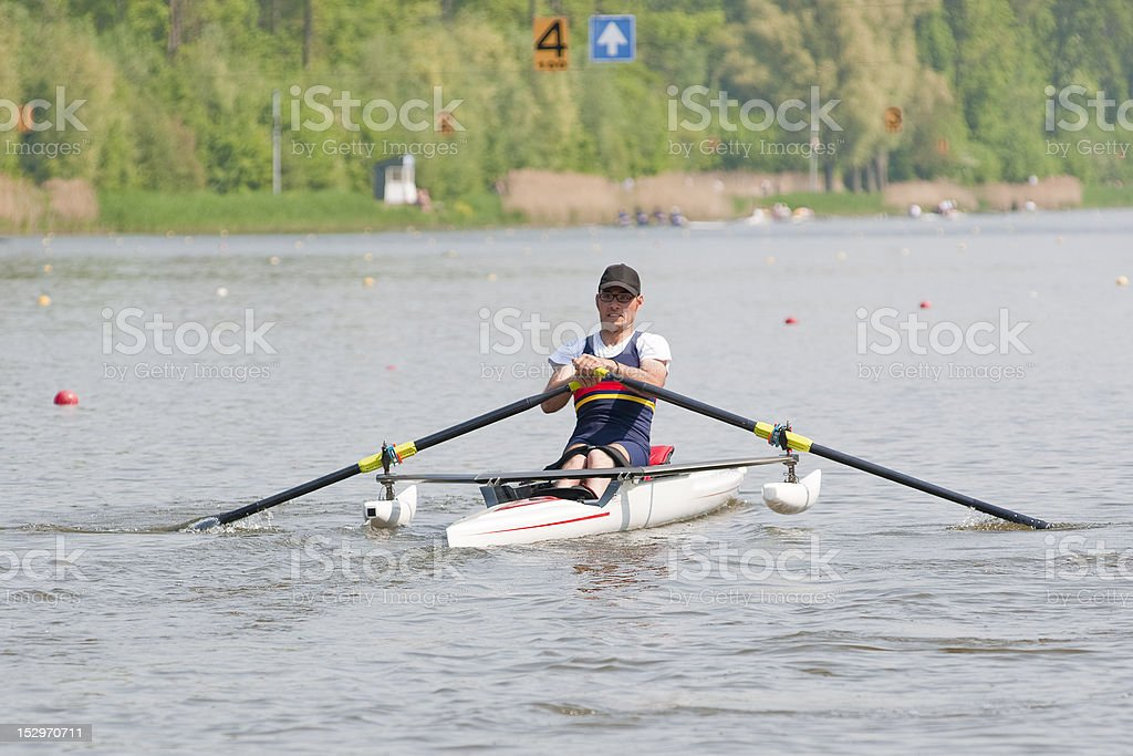 Disabled Rower royalty-free stock photo