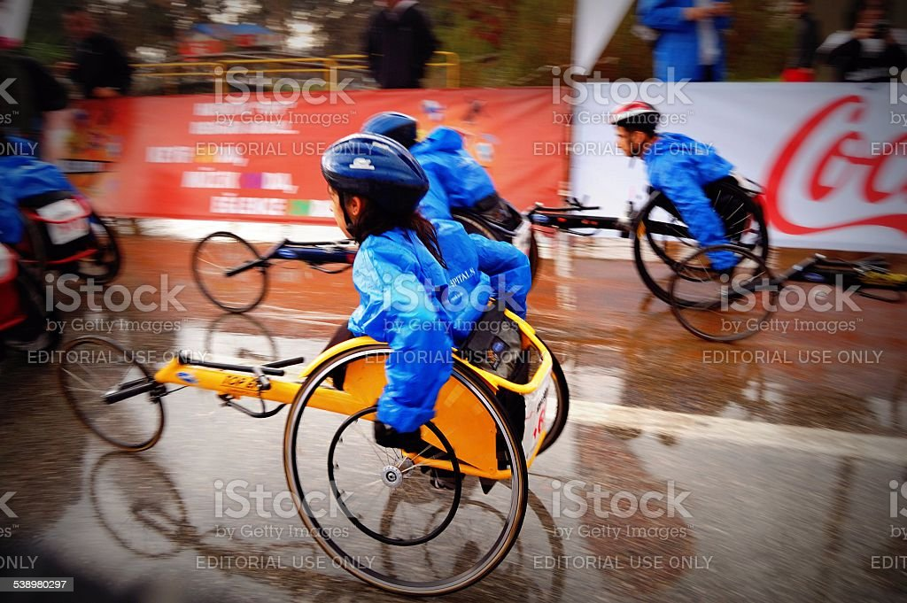 Disabled Runners stock photo