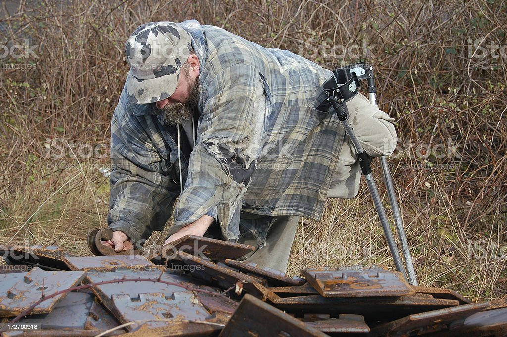 Disabled Scrapper stock photo