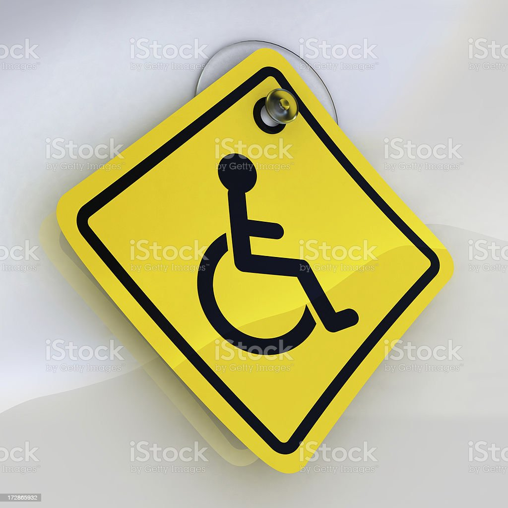 disabled sign royalty-free stock photo