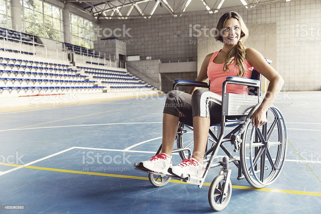 Disabled sports woman stock photo