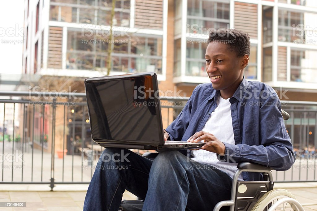 disabled student royalty-free stock photo