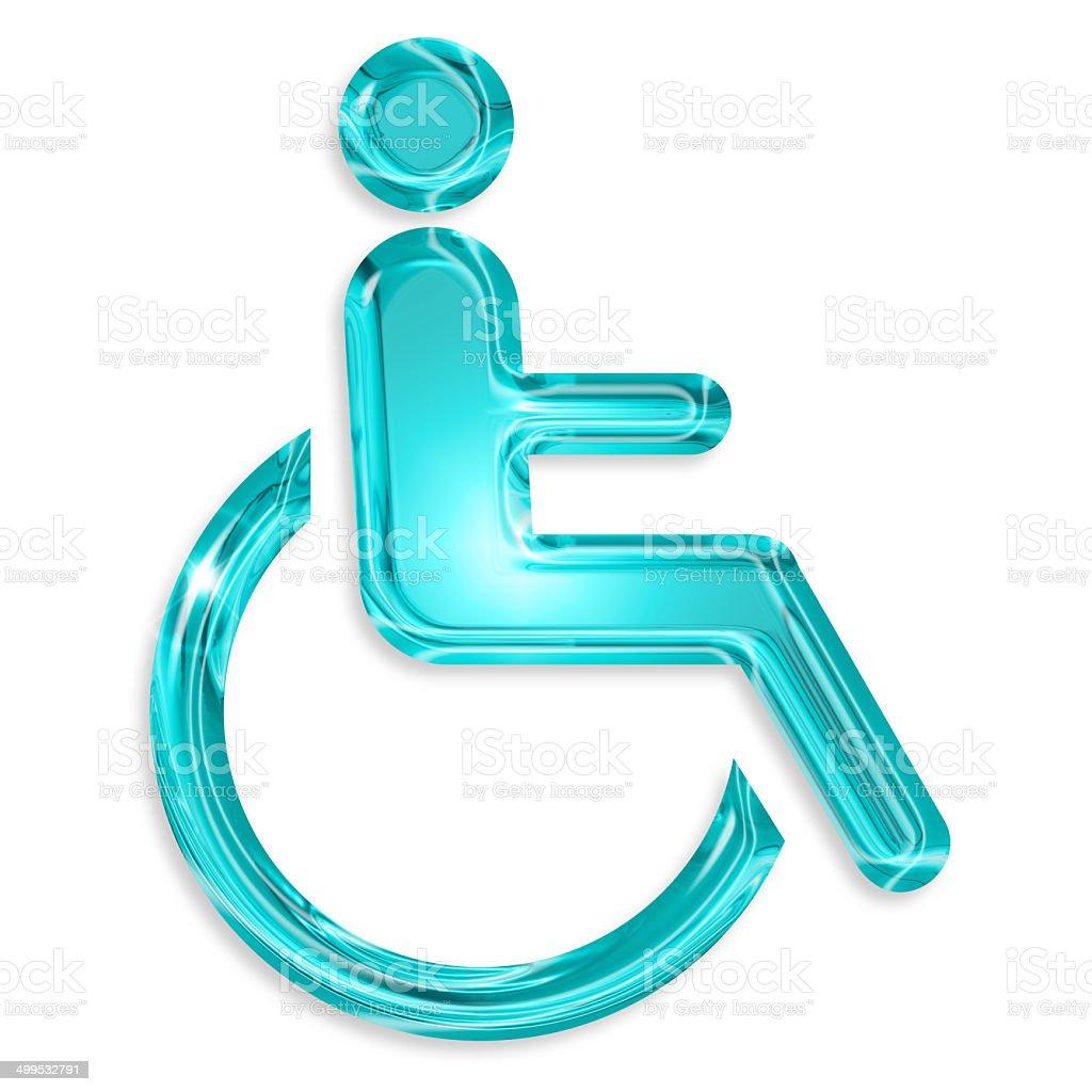 disabled symbol royalty-free stock photo