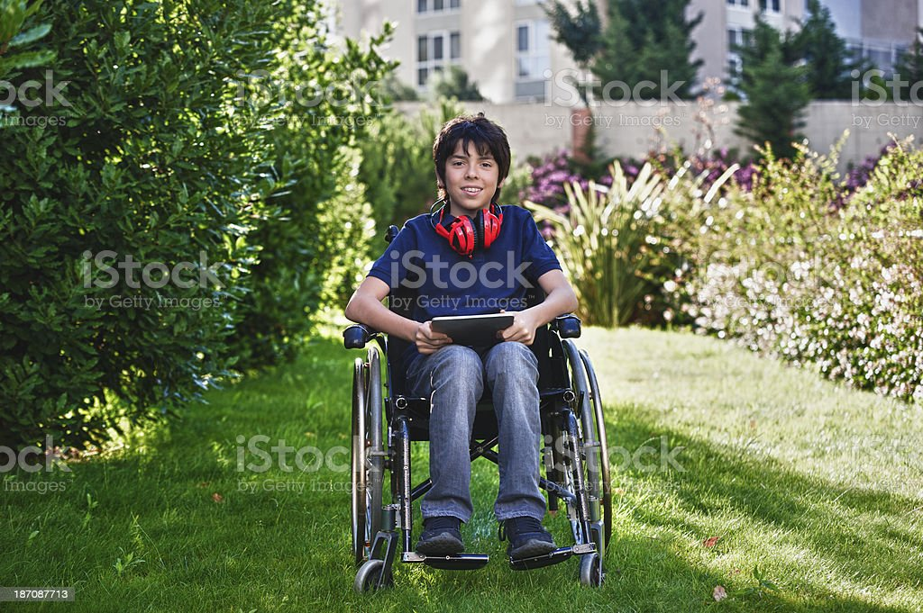 Disabled teen royalty-free stock photo