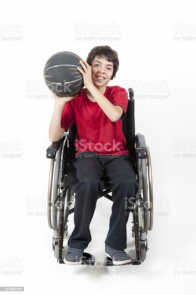Disabled Teen Sportive royalty-free stock photo