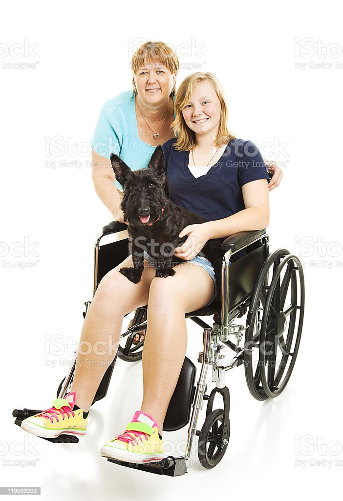 Disabled Teen with Mom royalty-free stock photo