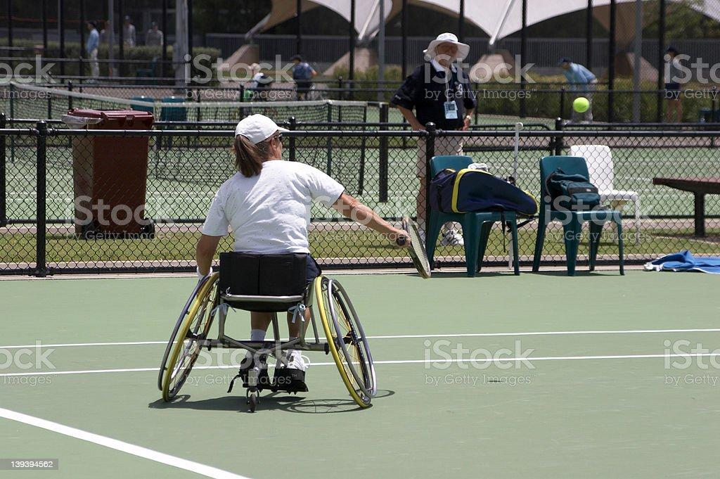 Disabled Tennis Player royalty-free stock photo