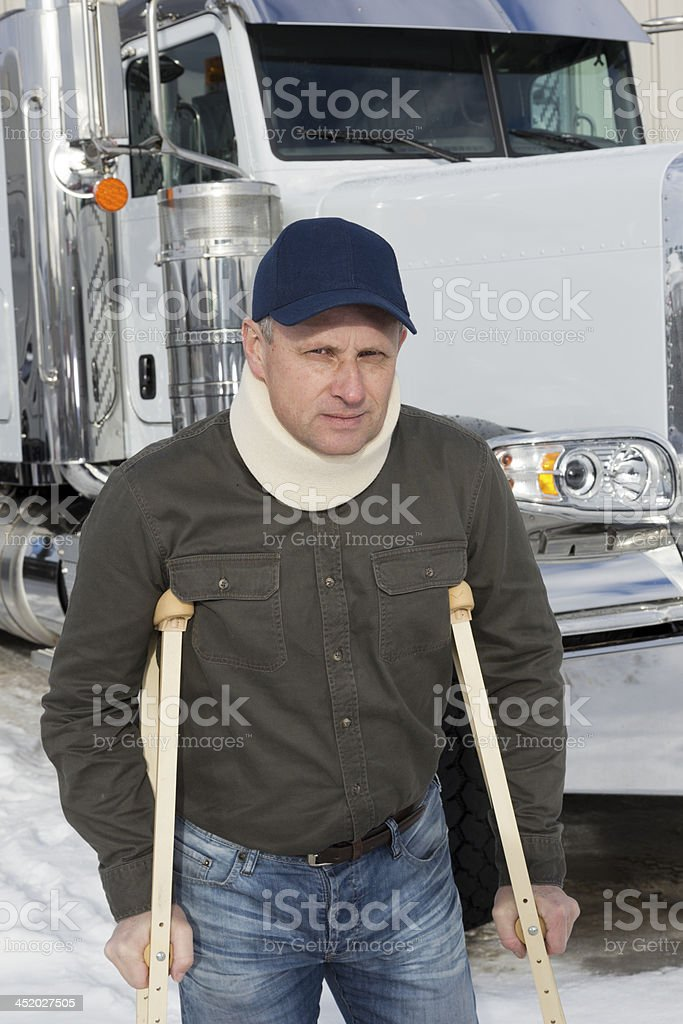 Disabled Truck Driver royalty-free stock photo