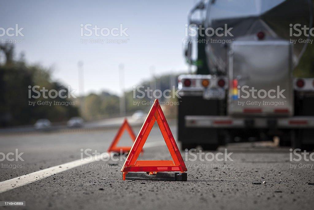 Disabled Vehicle Reflectors stock photo