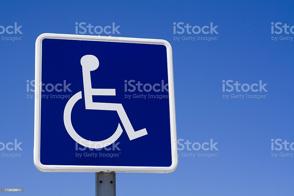 Disabled - wheelchair sign royalty-free stock photo