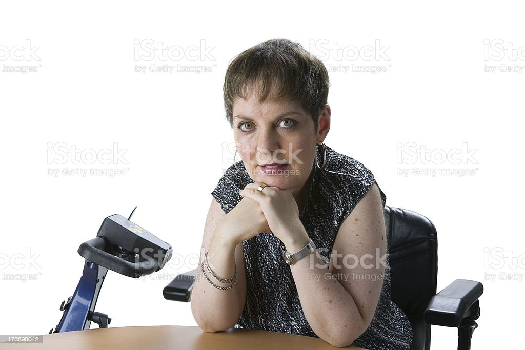 disabled woman royalty-free stock photo
