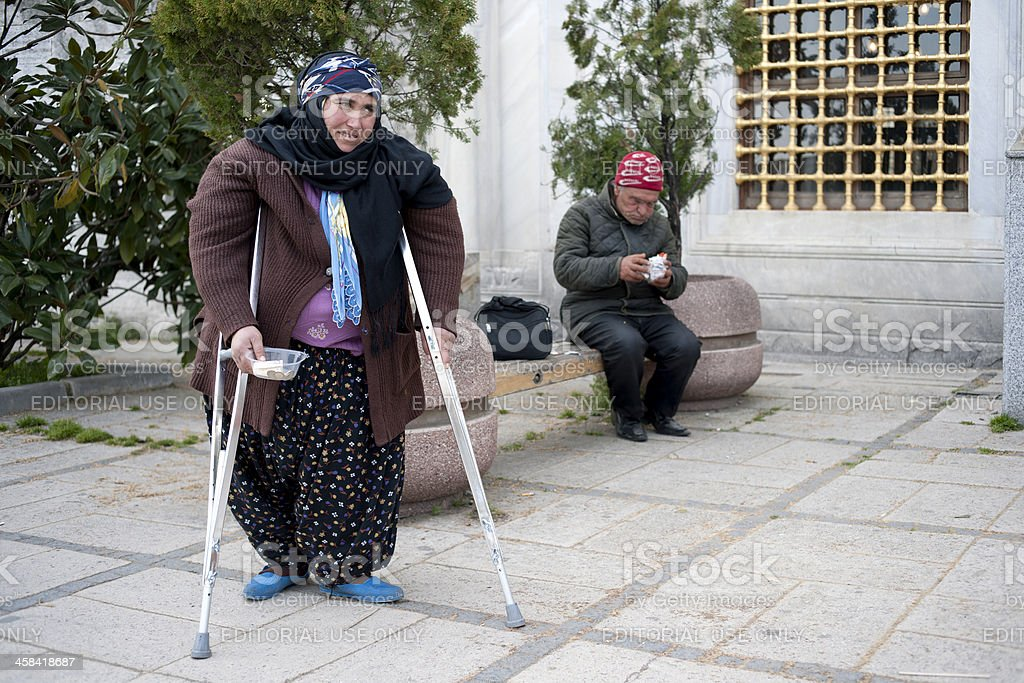 disabled woman stock photo