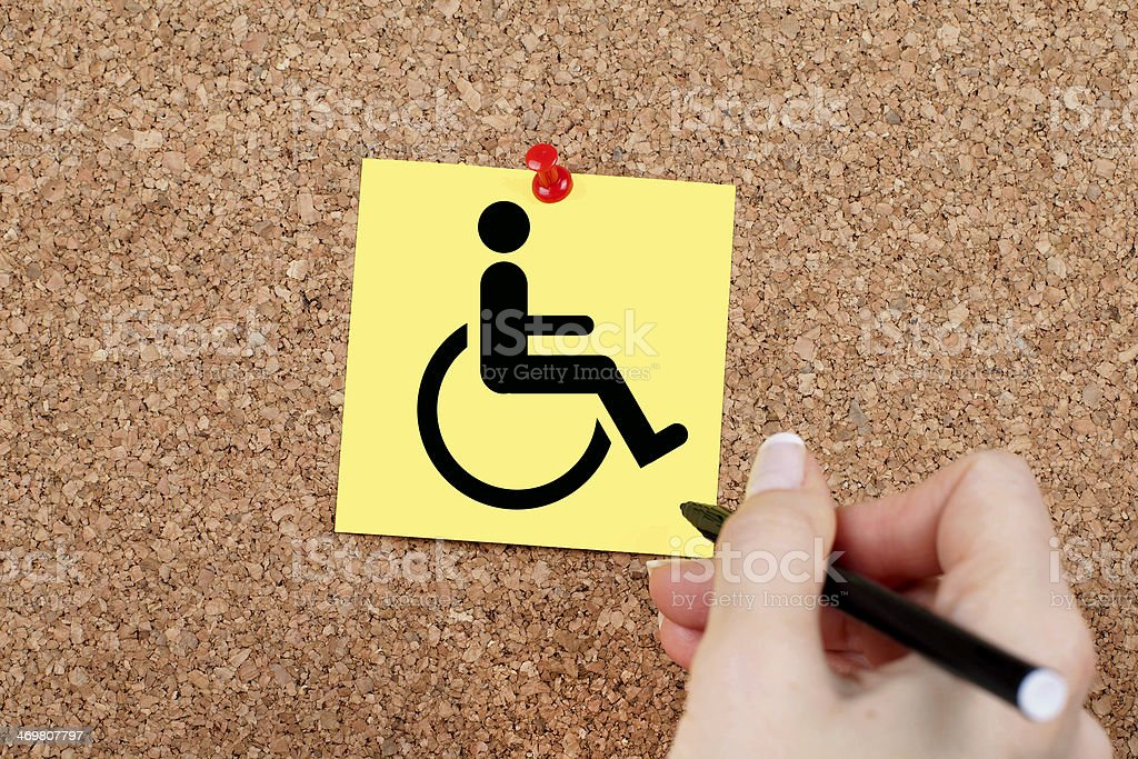 Disabled Workers in Business royalty-free stock photo
