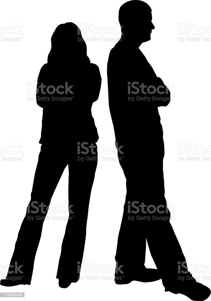 Disagreement or Divorce stock photo