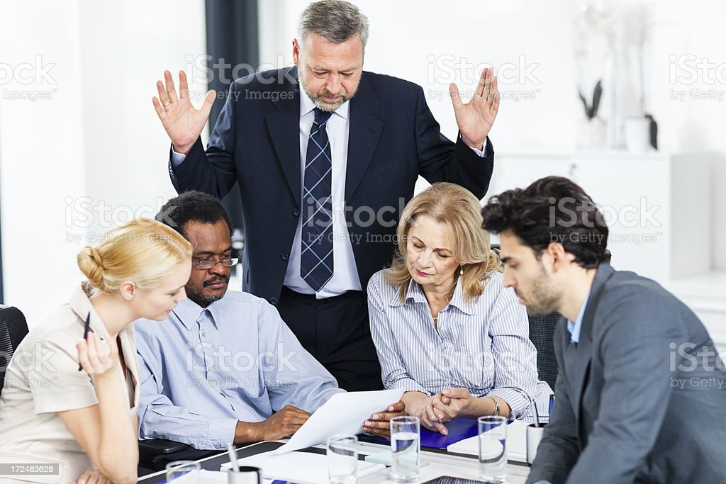 Disapointed business people stock photo