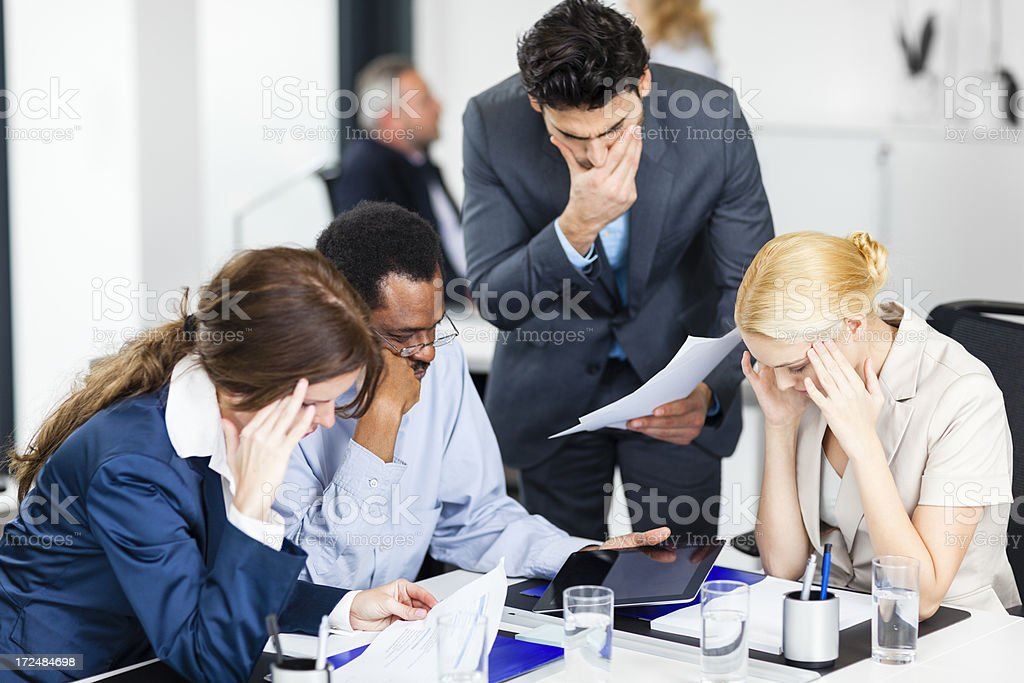 Disapointed business people royalty-free stock photo