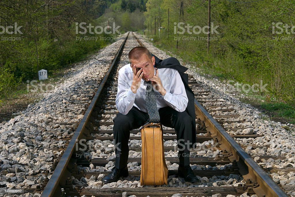 Disappointed businessman royalty-free stock photo