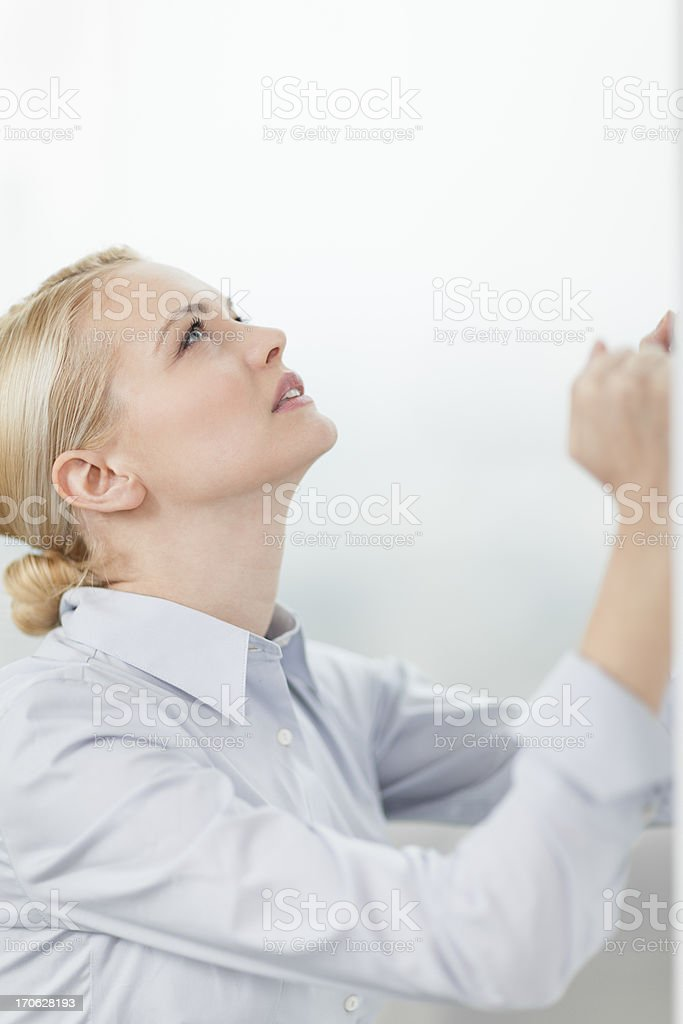 Disappointed businesswoman royalty-free stock photo