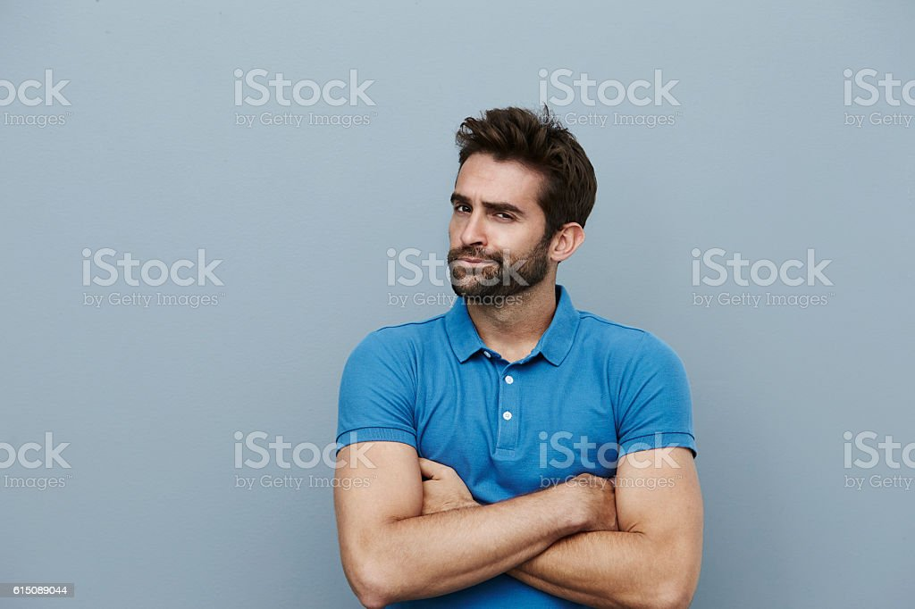 Disappointed dude stock photo