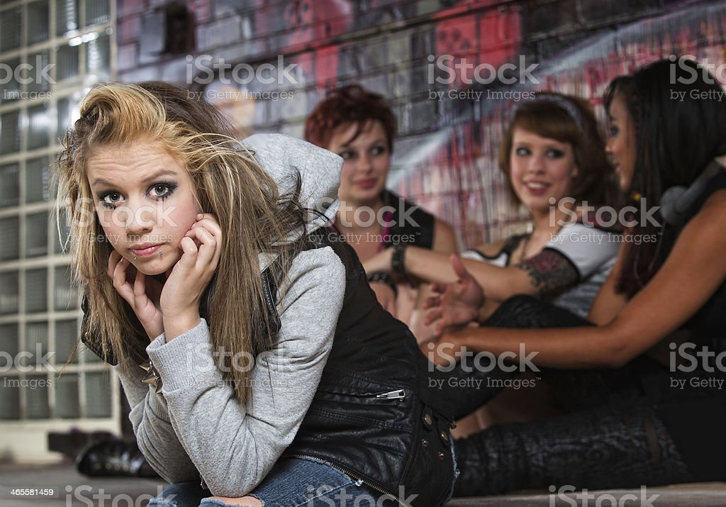Disappointed Female Teenager stock photo